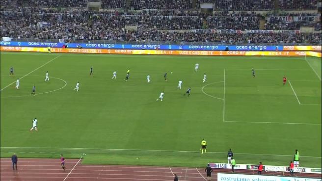 Lazio distratta con linea offside
